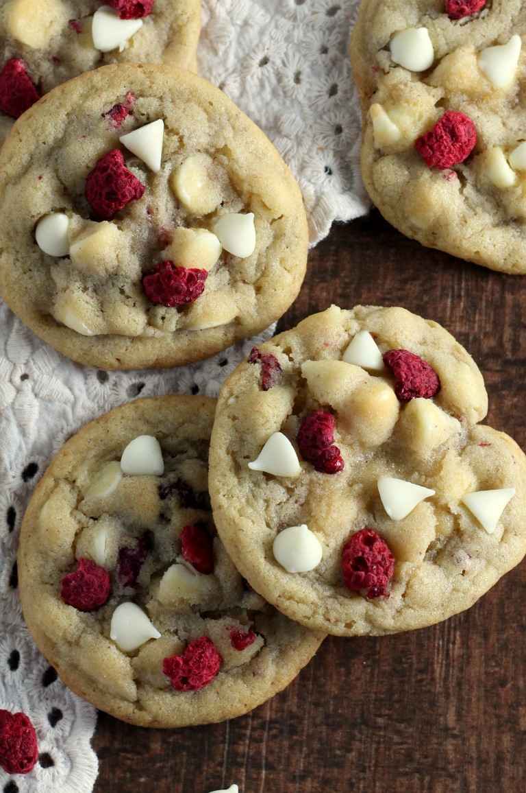 Recipes Christmas Cookies  White Chocolate Raspberry Cookies Chocolate With Grace