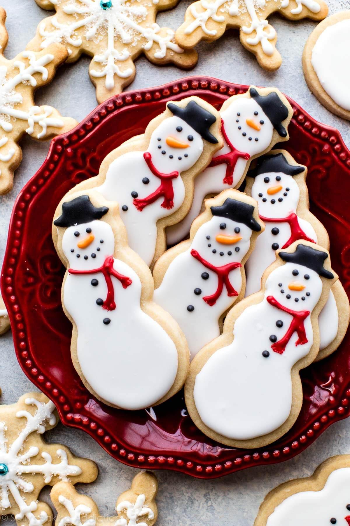 Recipes For Christmas Sugar Cookies  Snowman Sugar Cookies