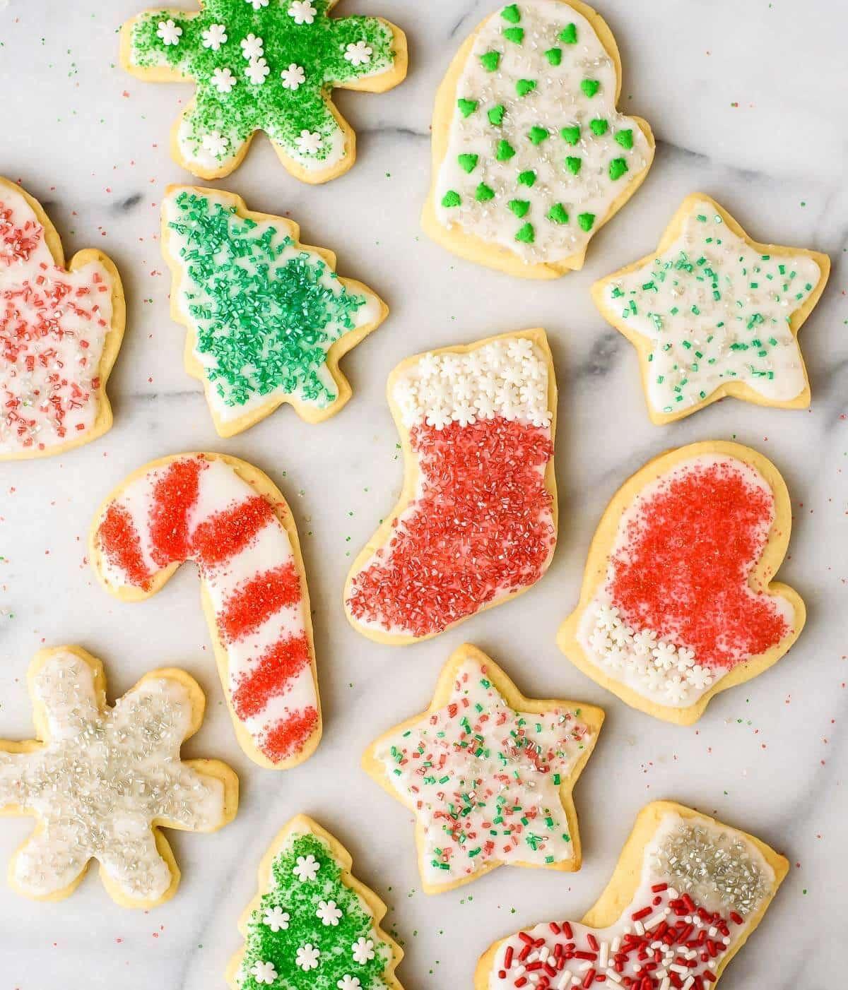 Recipes For Christmas Sugar Cookies  Perfect Cream Cheese Sugar Cookies