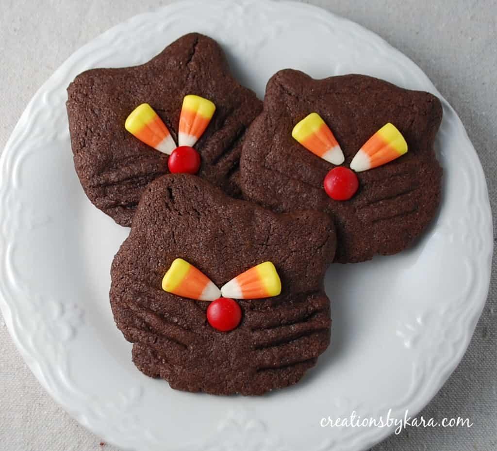 Recipes For Halloween Cookies  food ts halloween recipe black cat cookies