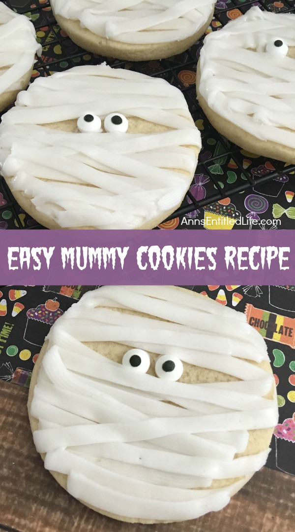 Recipes For Halloween Cookies  Mummy Cookies Recipe