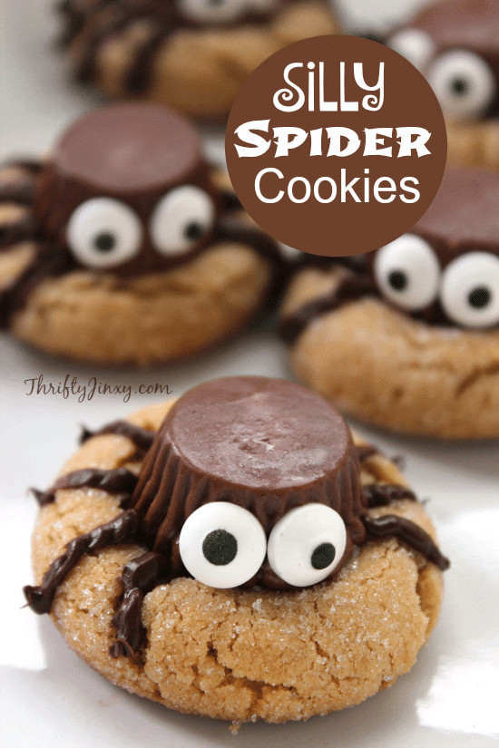 Recipes For Halloween Cookies  Silly Halloween Spider Cookies Recipe Thrifty Jinxy