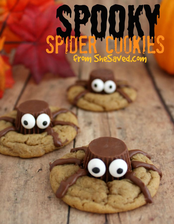 Recipes For Halloween Cookies  Halloween Treat Spooky Spider Cookies SheSaved