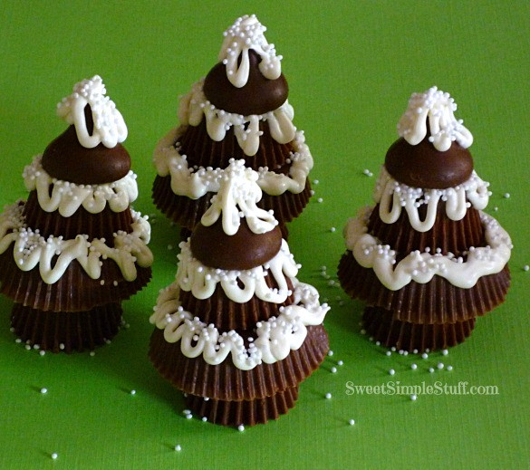 Reeses Christmas Tree Candy  Peanut Butter Cup Christmas Trees