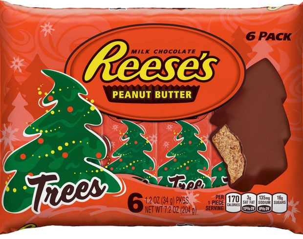 Reeses Christmas Tree Candy  Reese s Peanut Butter Cup trees are too blob like for some