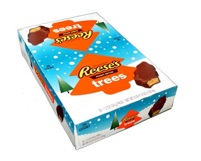 Reeses Christmas Tree Candy  Reese s Peanut Butter Christmas Trees 36 Box Candy