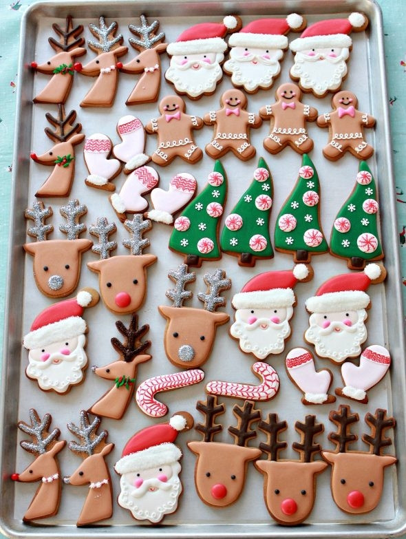 Royal Icing Christmas Cookie  Video How to Decorate Christmas Cookies Simple Designs