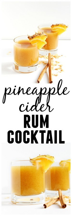 Rum Drinks For Fall  Pineapple cider rum cocktail