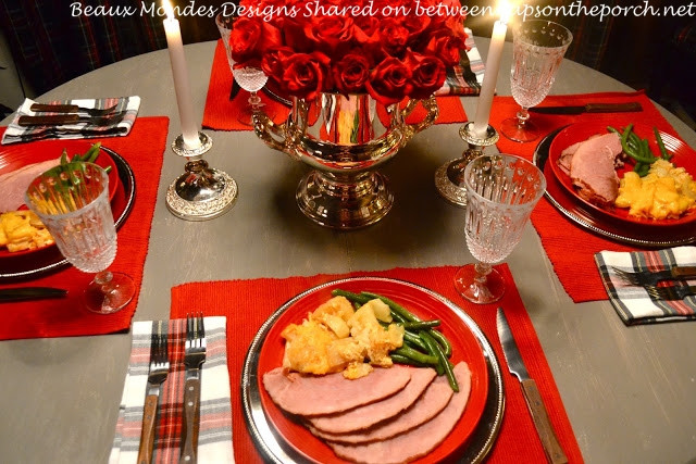 Russian Christmas Dinners  Christmas Tablescape Table Setting in a Cabin Russian