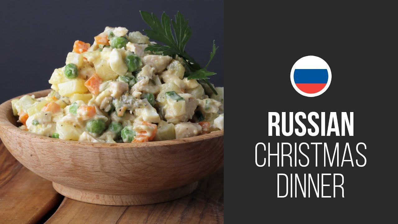 Russian Christmas Dinners  Famous Olivier Salad Stolichny Salad Russian