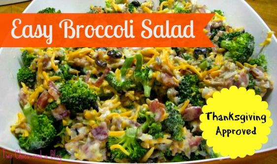 Salads For Thanksgiving Potluck  Easy Broccoli Salad Thanksgiving Recipes Potluck