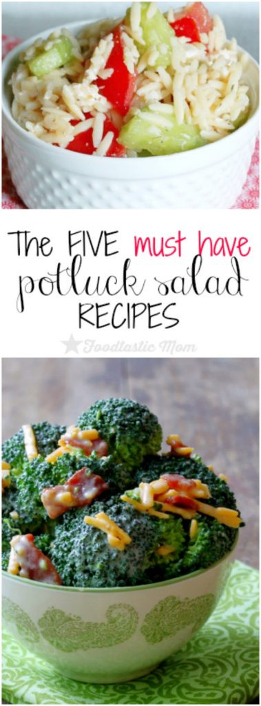 Salads For Thanksgiving Potluck  The Five Must Have Potluck Salad Recipes Foodtastic Mom