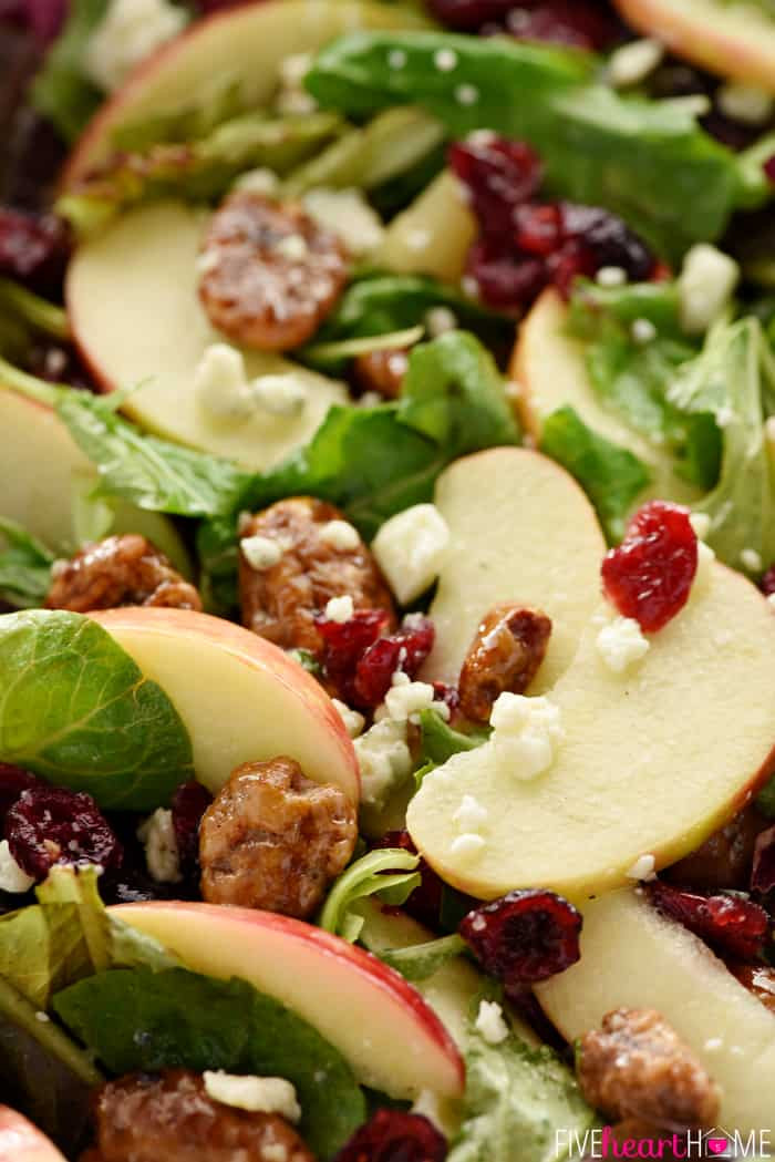 Salads Recipes For Thanksgiving  Holiday Honeycrisp Salad • FIVEheartHOME