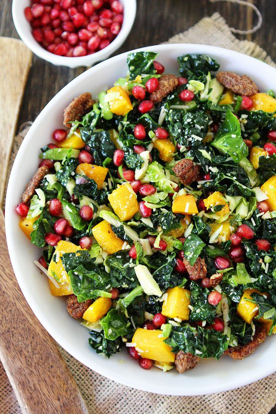 Salads Recipes For Thanksgiving  Kale and Brussels Sprouts Salad Recipe