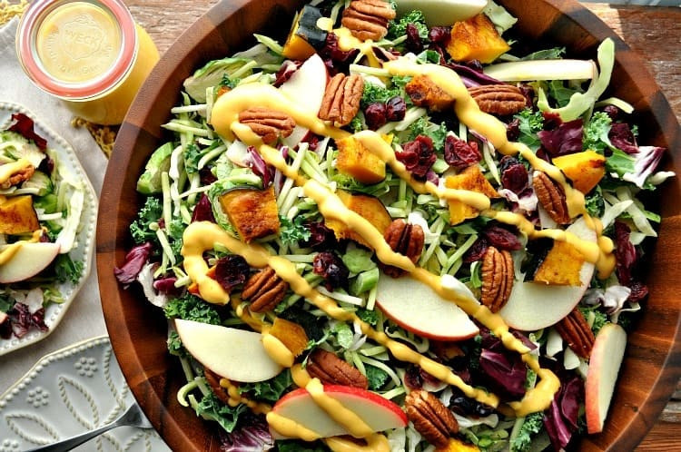 Salads Recipes For Thanksgiving  Healthy Thanksgiving Side Dish Fall Harvest Salad with