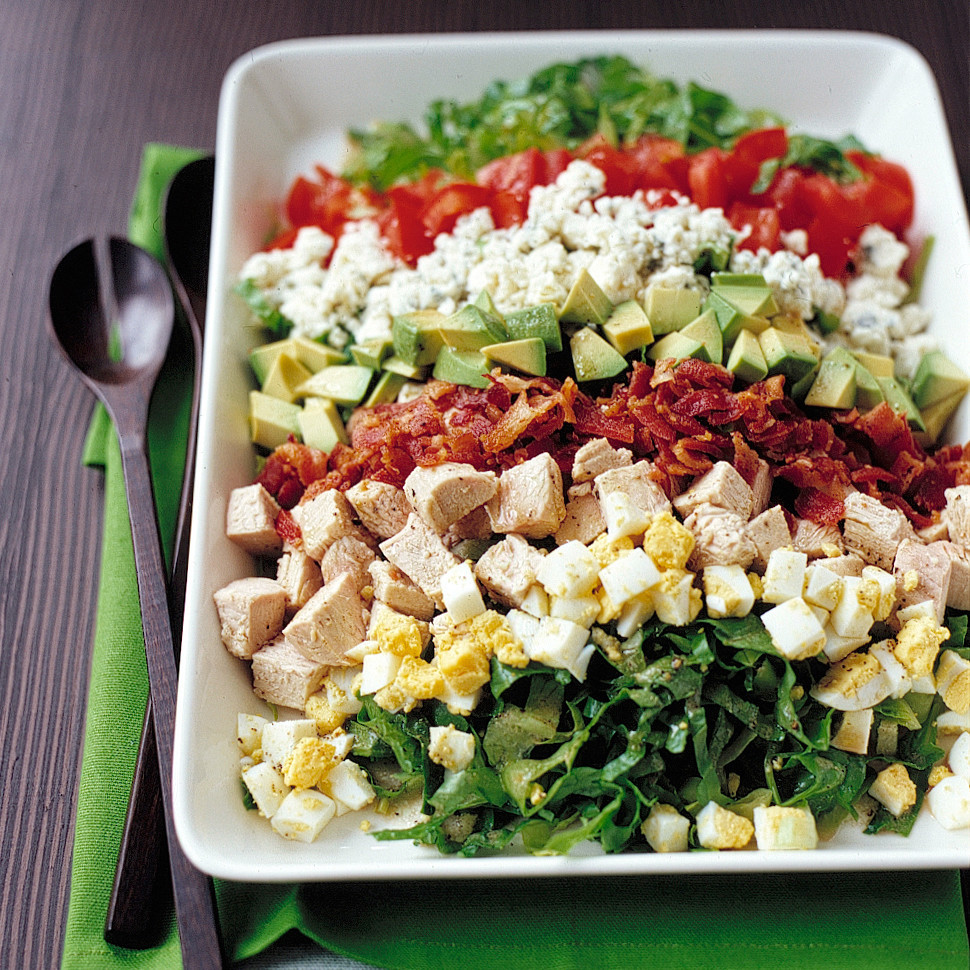 Salads Recipes For Thanksgiving  Turkey Cobb Salad