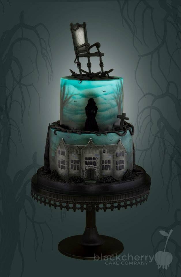 Scarey Halloween Cakes  Eerie Halloween Cake That Lights Up Inside Ha Ha Ha