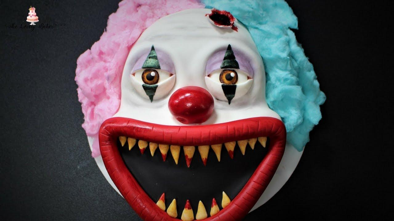Scarey Halloween Cakes  Creepy Scary Clown Halloween Cake Tutorial