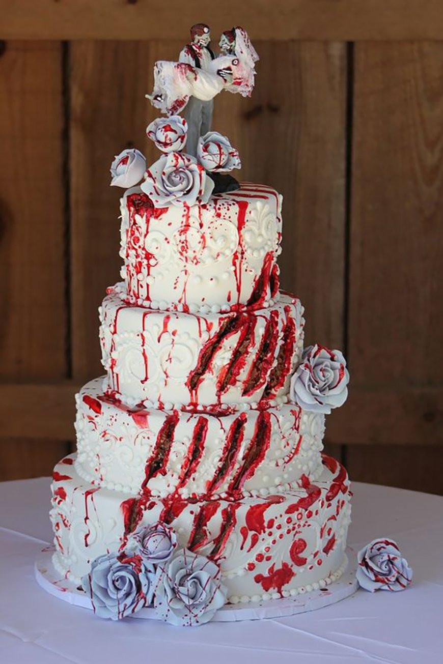 Scarey Halloween Cakes  23 Halloween Wedding Cakes