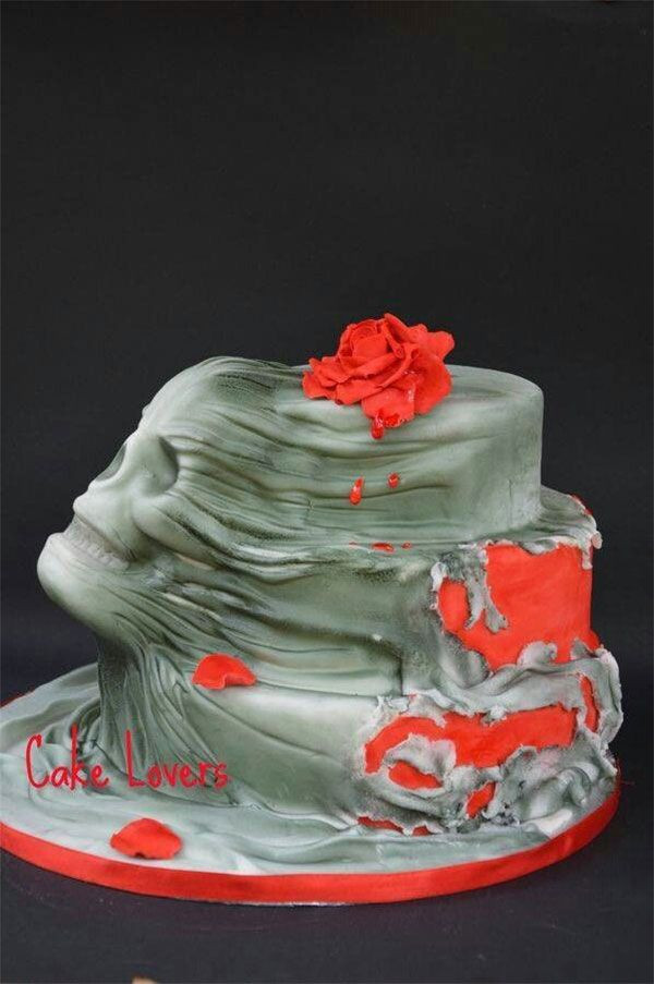 Scary Halloween Cakes  Best 25 Scary cakes ideas on Pinterest