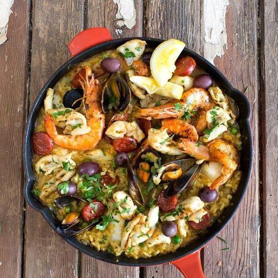 Seafood Christmas Dinners  Seafood paella Christmas dinners and Paella on Pinterest