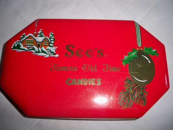 Sees Christmas Candy  Vintage See s Christmas Candy Tin by MemeresAttic on Etsy