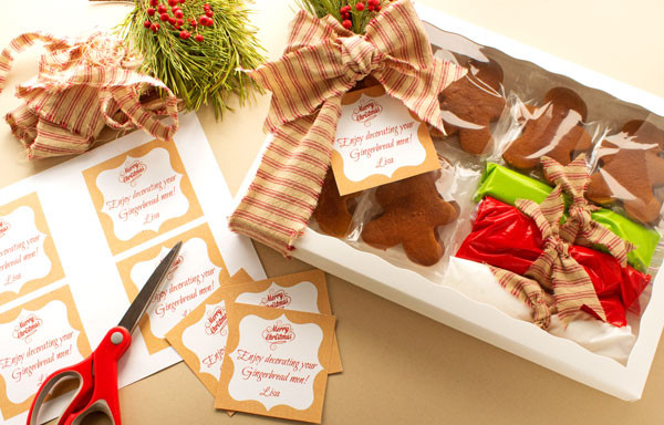 Send Christmas Cookies  Gingerbread Cookie Recipe and Free Printable Tag