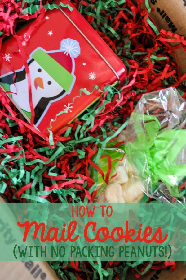 Send Christmas Cookies  How to Mail Cookies without packing peanuts