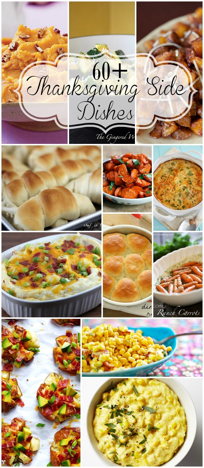 Side Dishes For Thanksgiving Dinner  Thanksgiving Side Dishes