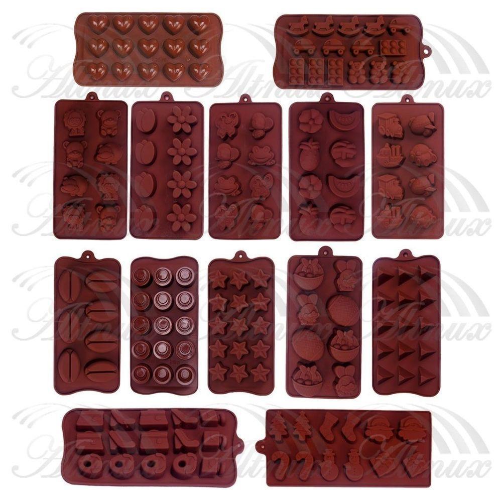 Silicone Christmas Candy Molds  Christmas Silicone Chocolate Fondant Cake Ice Soap Cube