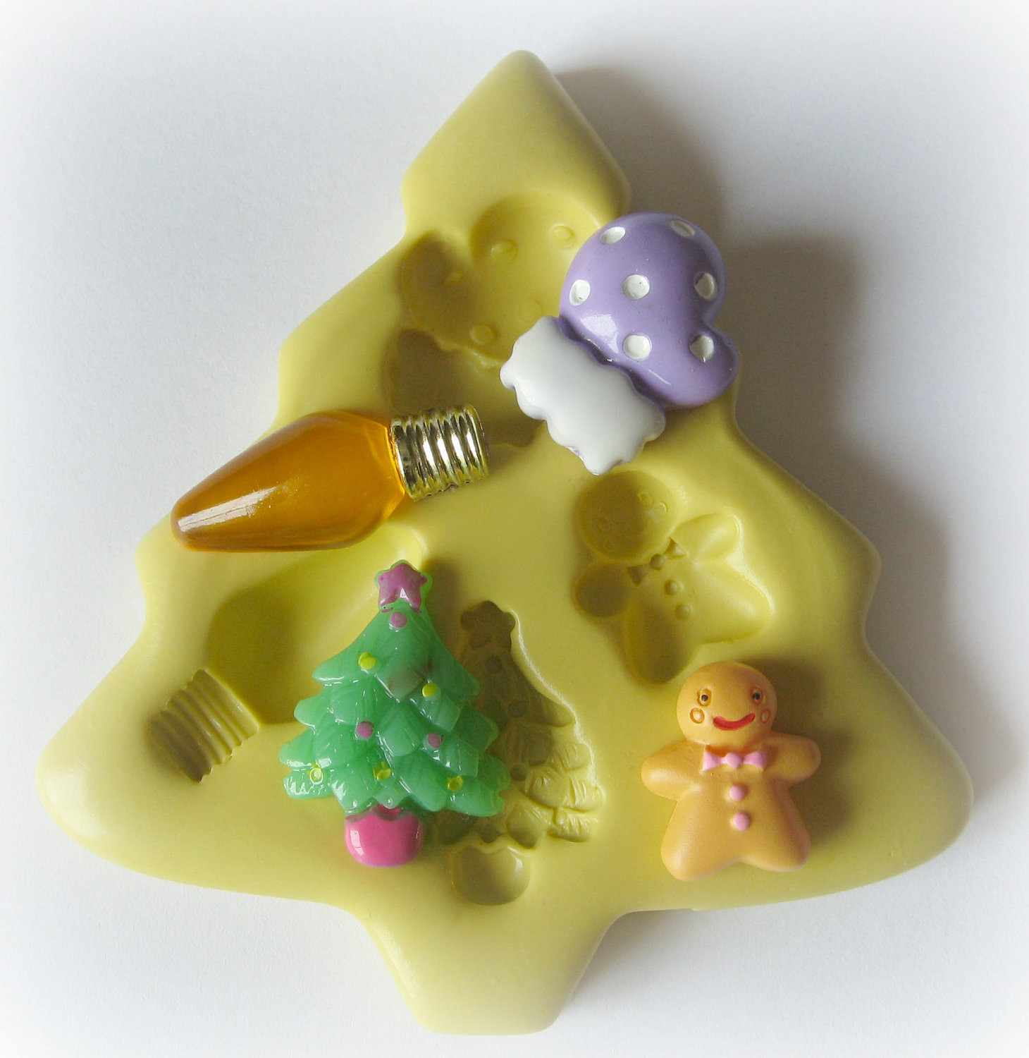 Silicone Christmas Candy Molds  Christmas Tree Silicone Mold Mitten Christmas Light