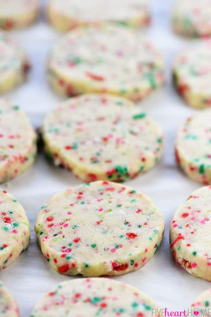 Simple Christmas Cookies Recipes  Easy Christmas Shortbread Cookies • FIVEheartHOME