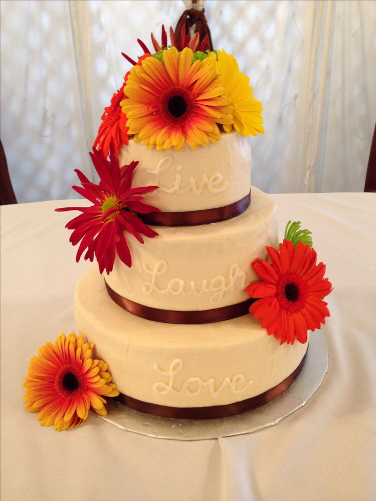 Simple Fall Wedding Cakes  61 best images about Fall Wedding Ideas on Pinterest