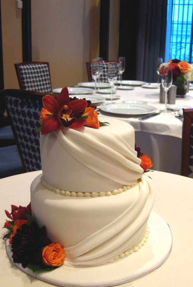Simple Fall Wedding Cakes  Sept 09 Elegant Cakes
