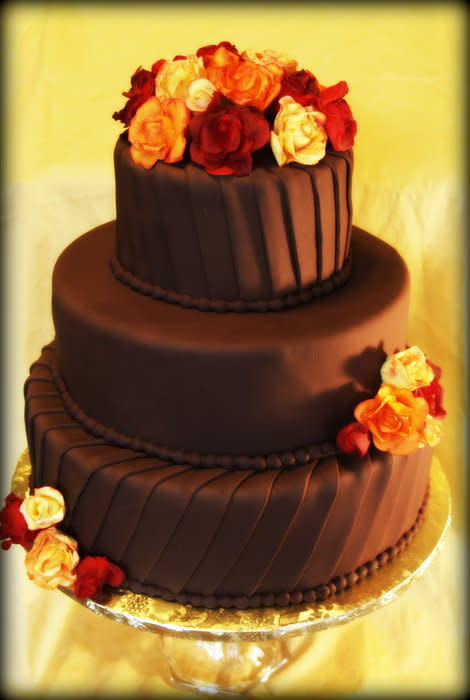 Simple Fall Wedding Cakes  Simple Fall Wedding Cake cake by BeckysSweets CakesDecor