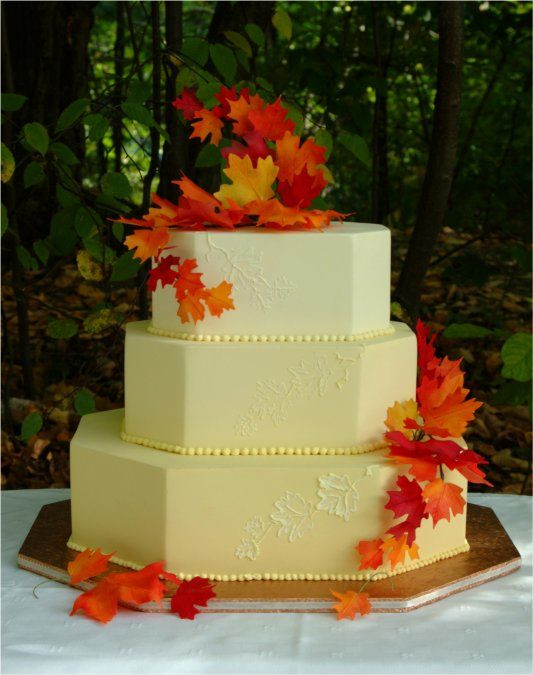 Simple Fall Wedding Cakes  17 Best images about Fall Wedding Cakes on Pinterest