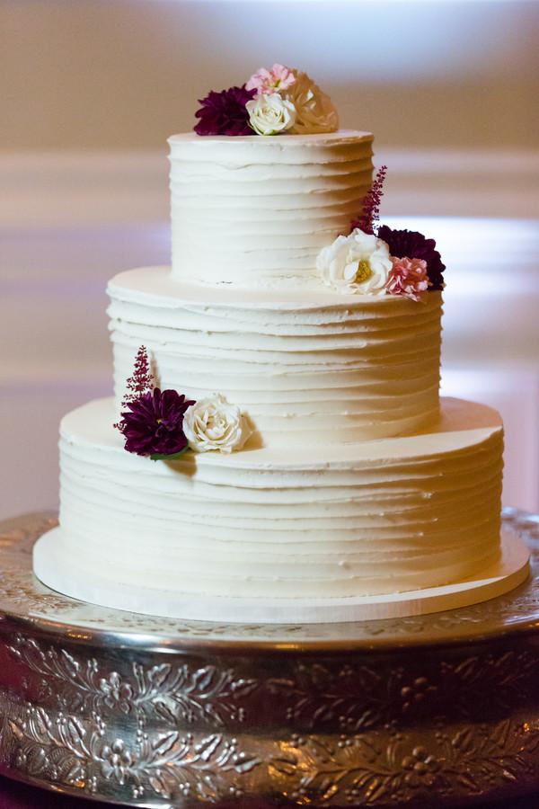 Simple Fall Wedding Cakes  Aubergine & Marsala Classic NC Fall Wedding Katie