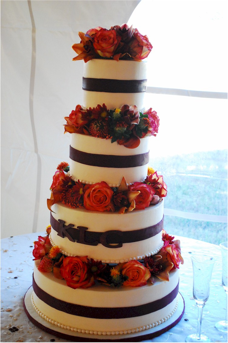 Simple Fall Wedding Cakes  Cup a Dee Cakes Blog November 2010