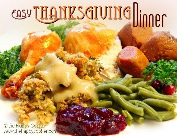 Simple Thanksgiving Dinner  Easy Thanksgiving Dinner Irene Deaton