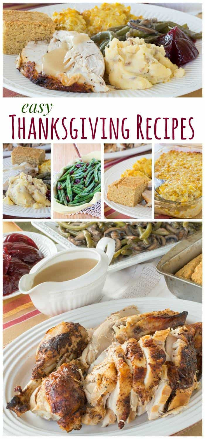 Simple Thanksgiving Dinner  Easy Thanksgiving Recipes Cupcakes & Kale Chips