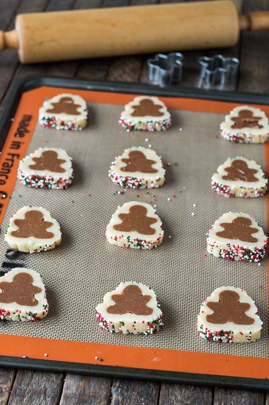 Slice And Bake Christmas Cookies  Gingerbread Men Slice N Bake Cookies