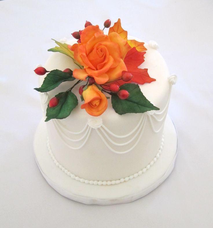 Small Fall Wedding Cakes  Small fall wedding cakes idea in 2017