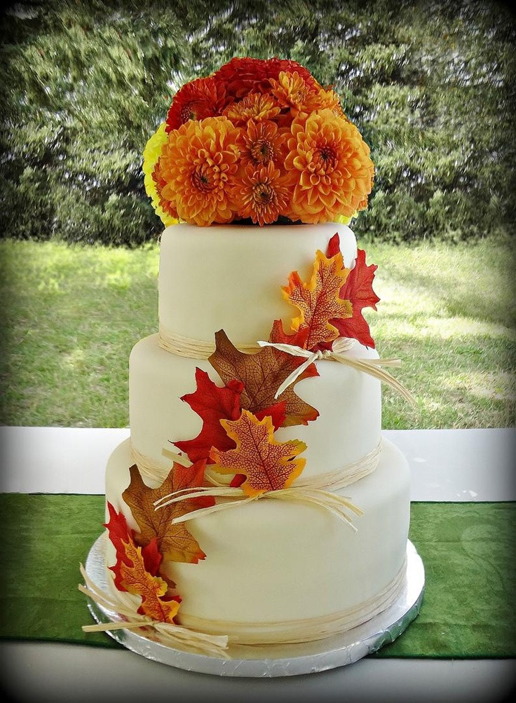 Small Fall Wedding Cakes  137 best images about Fall Wedding Cakes on Pinterest