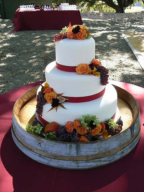 Small Fall Wedding Cakes  Fall Wedding Cake October 6 Cake