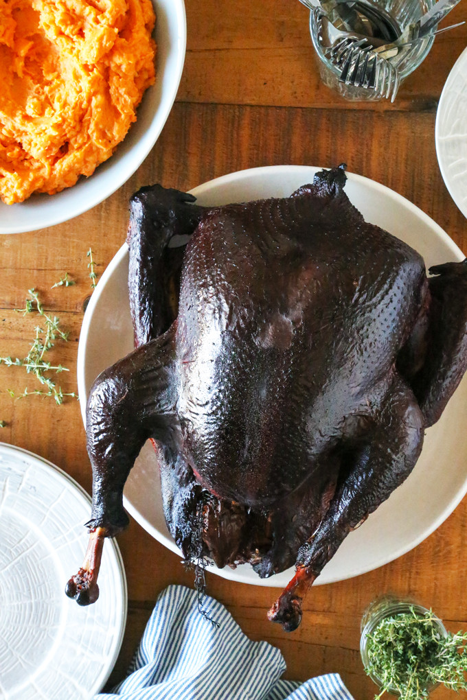 Smoke A Turkey For Thanksgiving  Smoked Turkey Garlic Herb Dry Brine