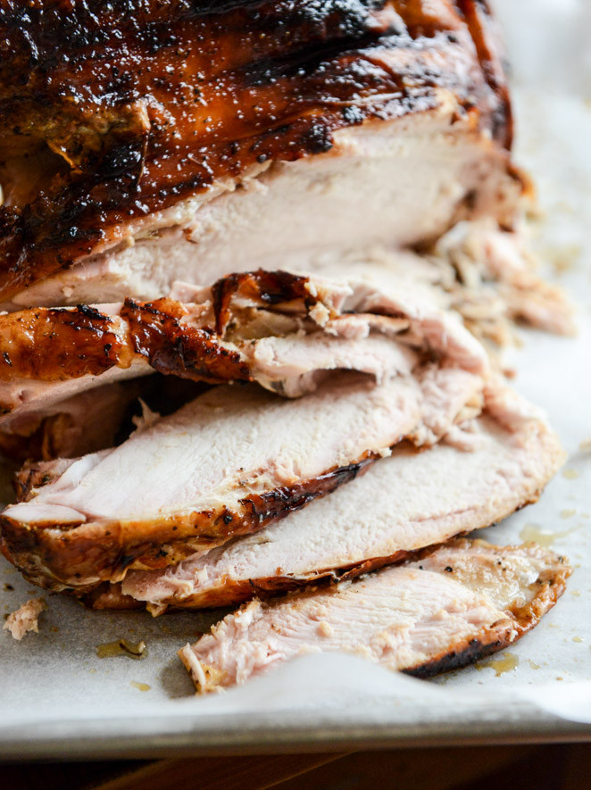 Smoked Turkey For Thanksgiving  Applewood Smoked Turkey Breast with Cider Bourbon Gravy