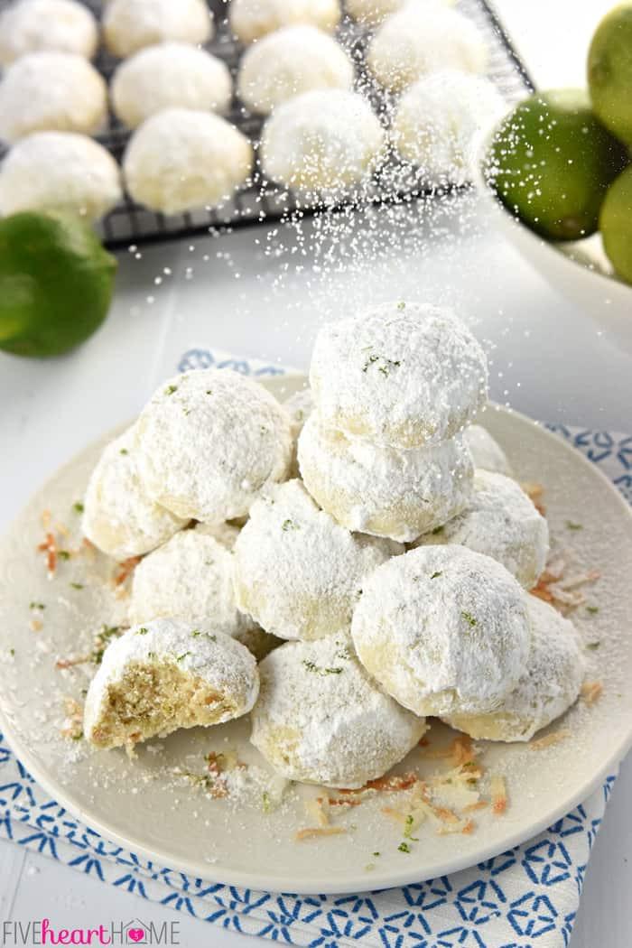 Snowball Christmas Cookies  Lime Coconut Snowball Cookies Over 100 More Christmas