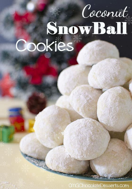 Snowball Christmas Cookies  Christmas Coconut Snowball Cookies OMG Chocolate Desserts