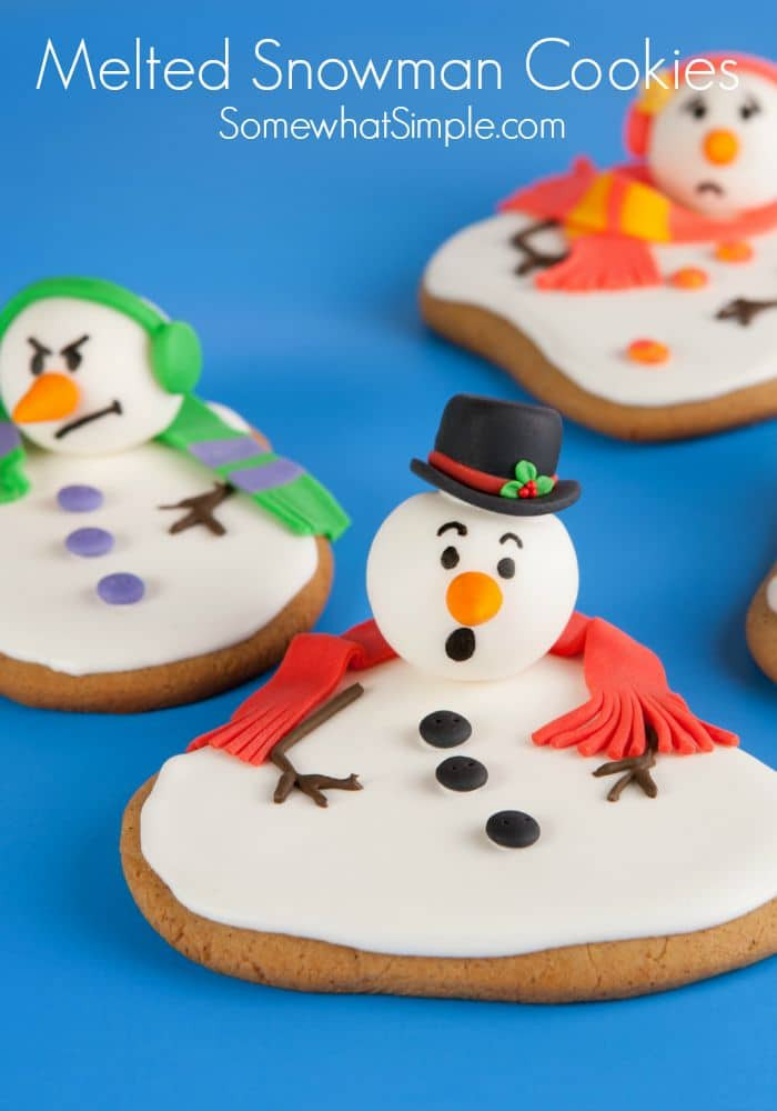Snowman Christmas Cookies  Melted Snowman Cookies