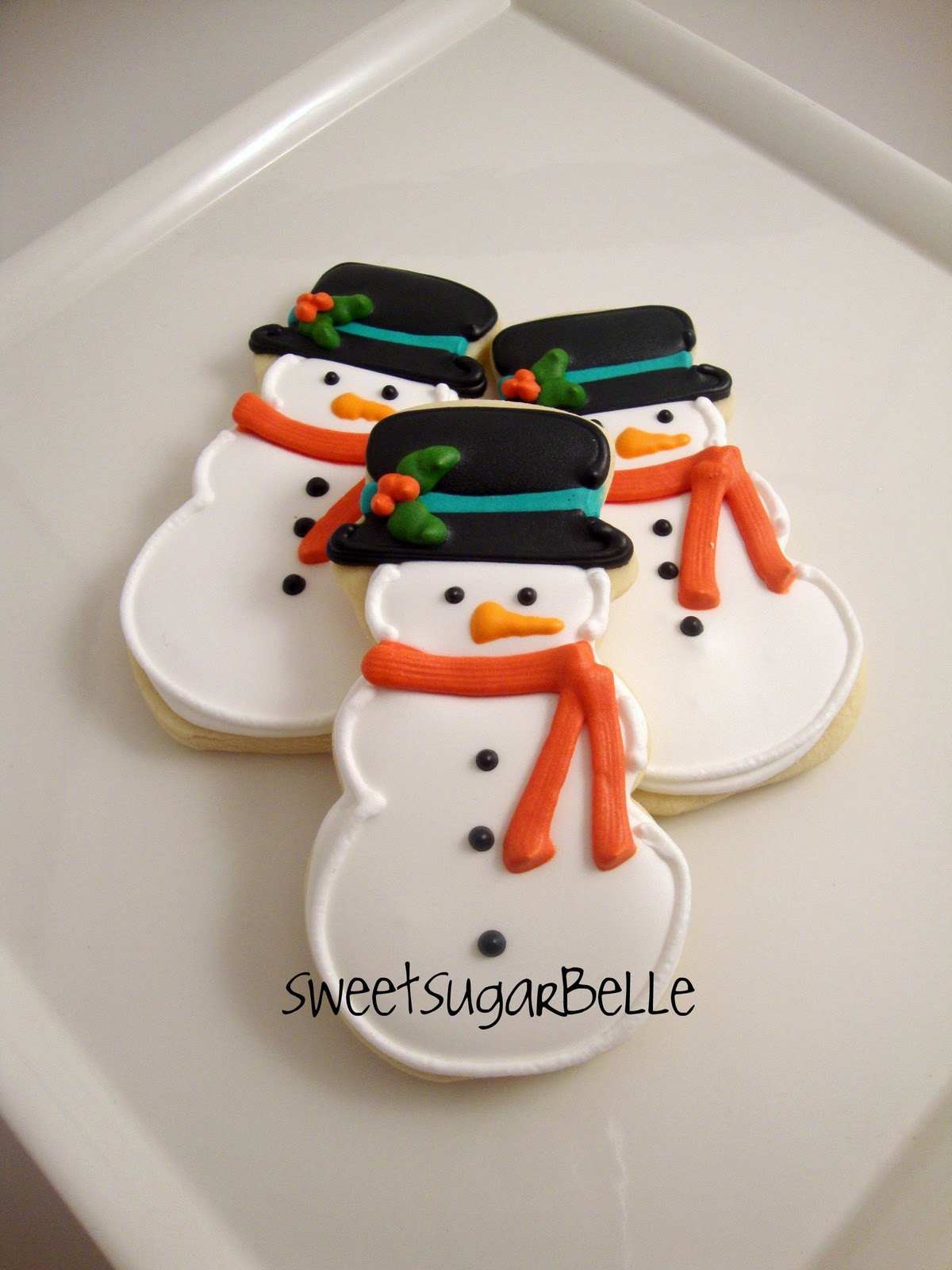 Snowman Christmas Cookies  Merry Christmas – The Sweet Adventures of Sugar Belle